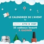 Jeu concours : calendrier de beauté de l'avent Citron Vert