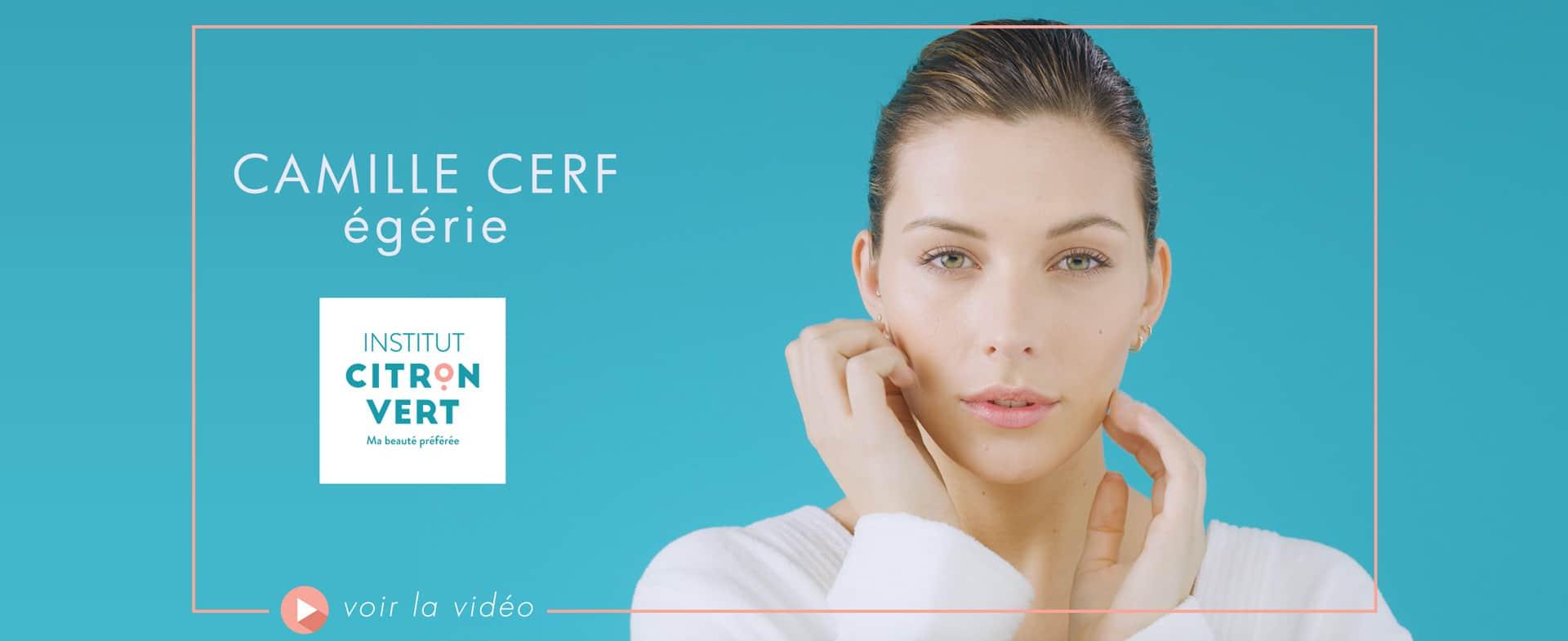 Camille Cerf - nouvelle égérie beauté Citron Vert